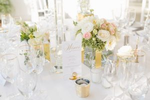 Gold & White Wedding Tablescape