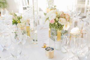 Gold & White Wedding Tablescape
