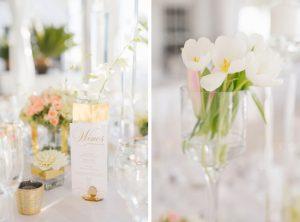 White Tulips in Glass Vase