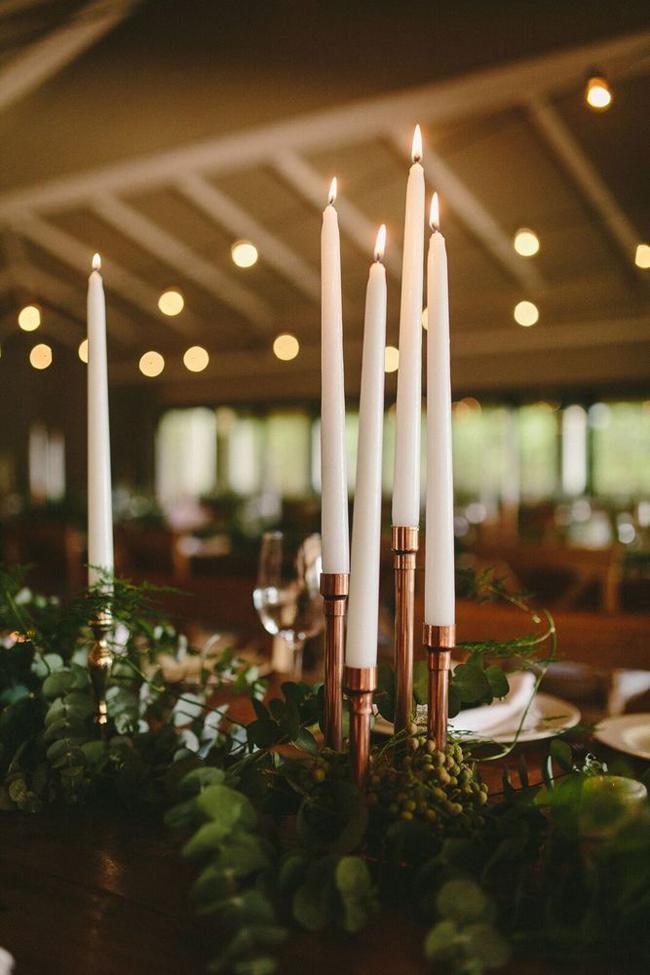 Modern Copper Candlesticks