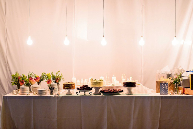Dessert Table with Edison Bulbs