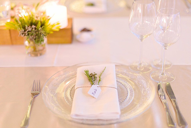 Place Setting with Glass Charger