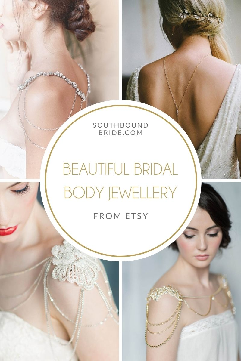 Bridal Body Jewelry from Etsy   SouthBound Bride