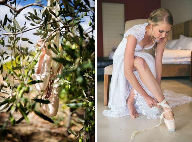 Ballet Slipper Wedding Shoes