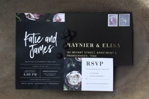 Black Wedding Invitation | Credit: Mooi Photography