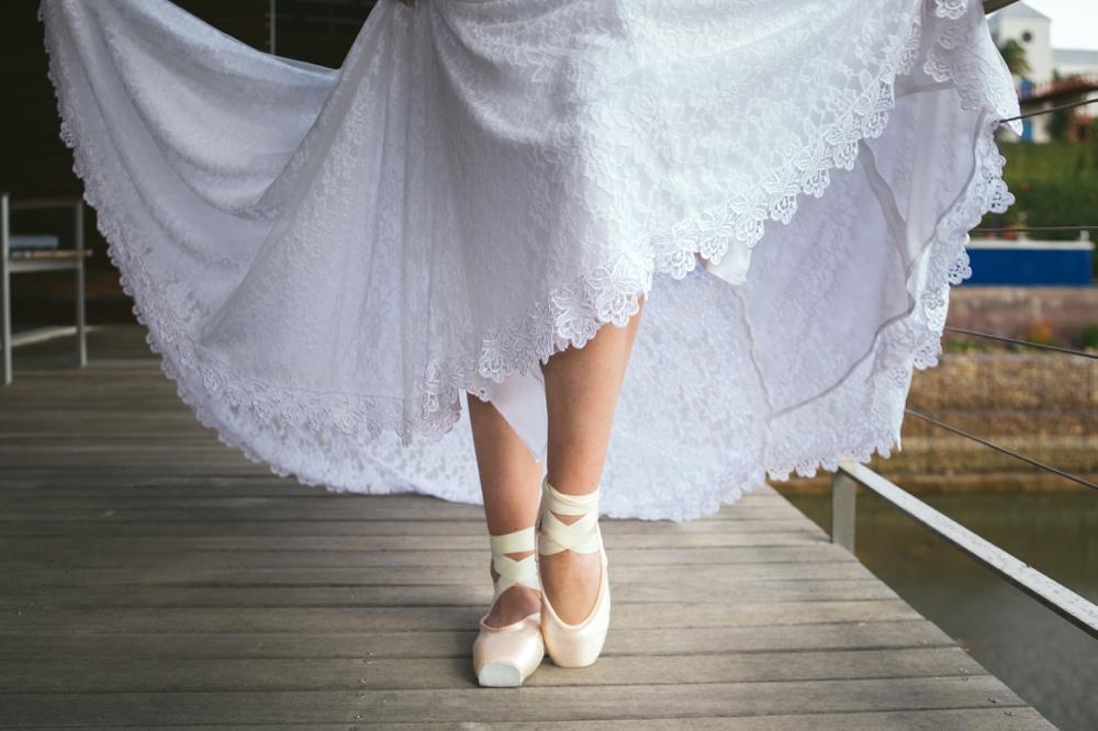 Bride in Ballet Slippers