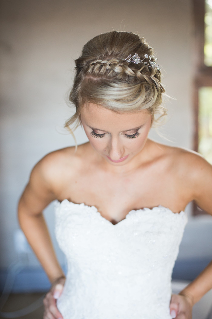Bride with Braided Updo | Credit: Those Photos