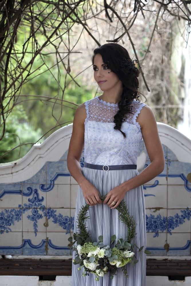 Blue Grey Wedding Dress | Credit: Mooi Photography
