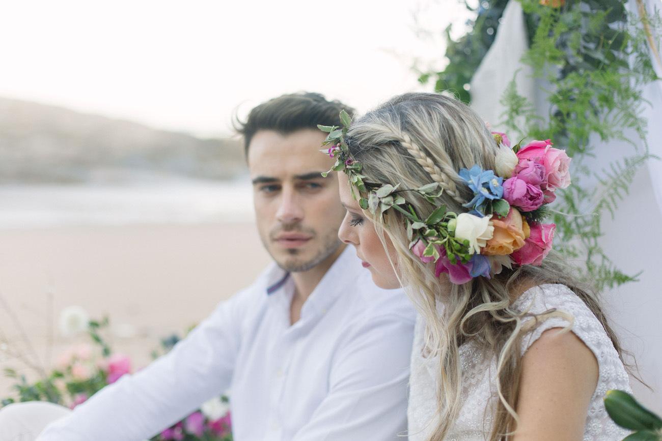 Pastel Floral Hair Decoration