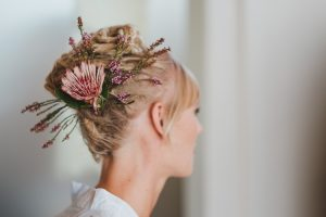 Bride with Braided Dreadlock Updo | Credit: Bold As Love