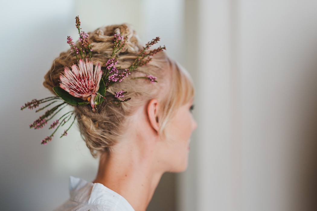 Bride with Braided Dreadlock Updo   Credit: Bold As Love