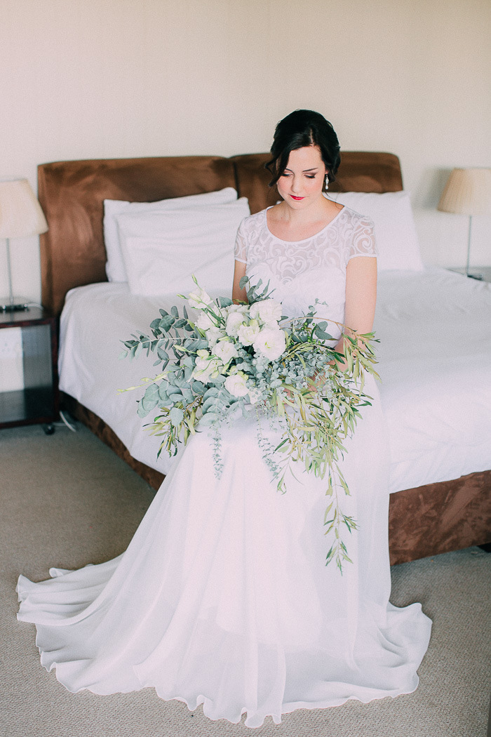 Bride with Botanical Bouquet | Credit: Michelle du Toit