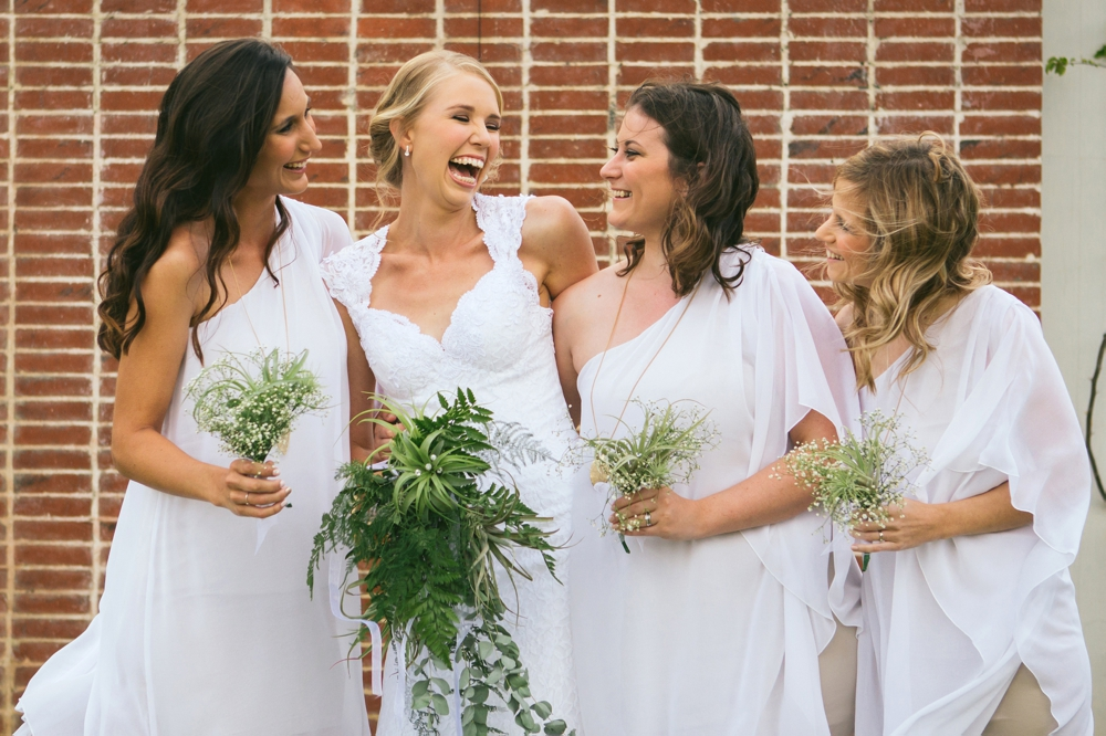 Bride & Bridesmaids with Greenery Bouquets