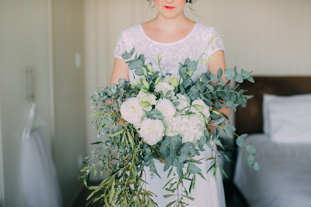 Organic Greenery Bouquet | Credit: Michelle du Toit