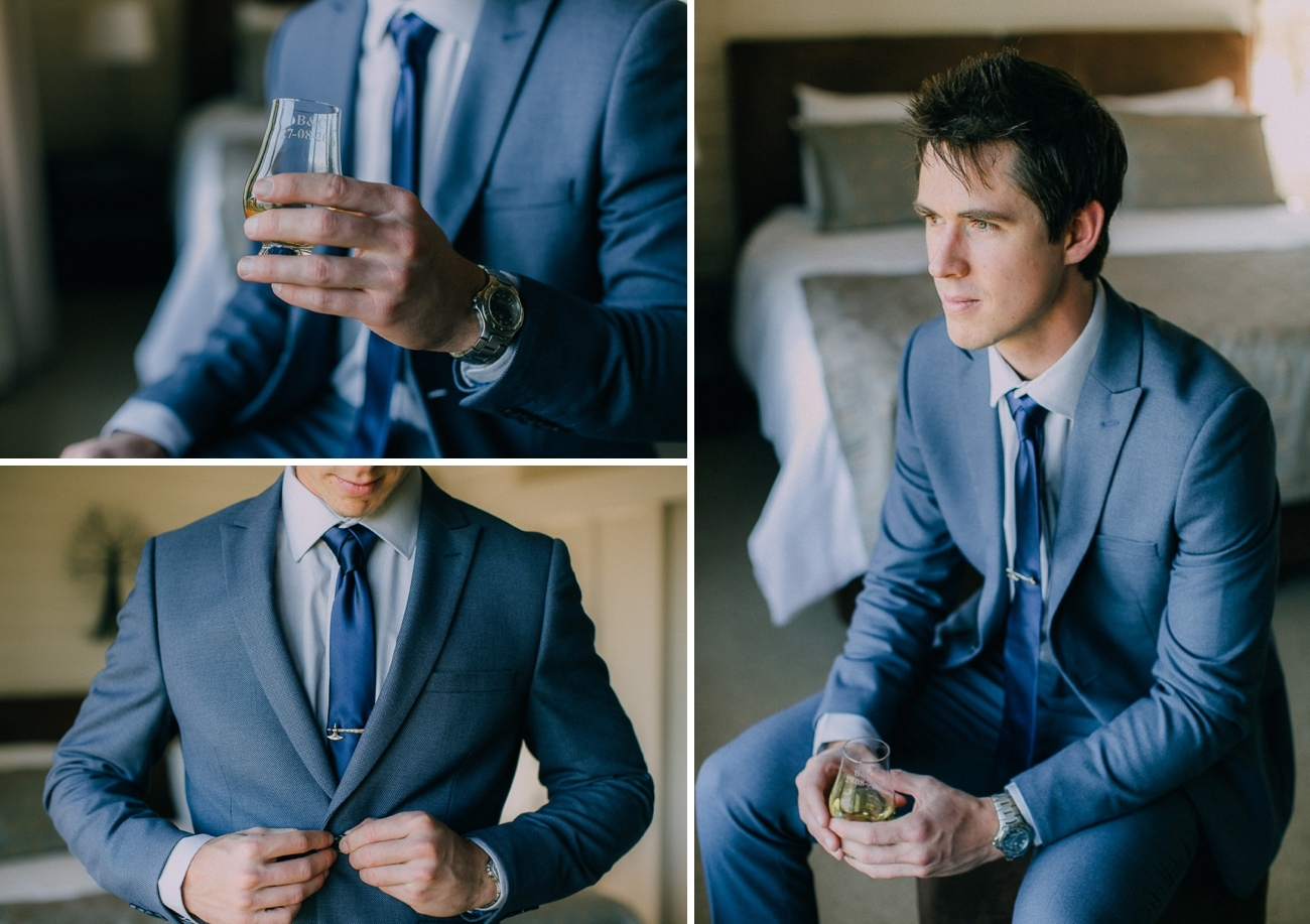 Groom in Blue Suit | Credit: Michelle du Toit