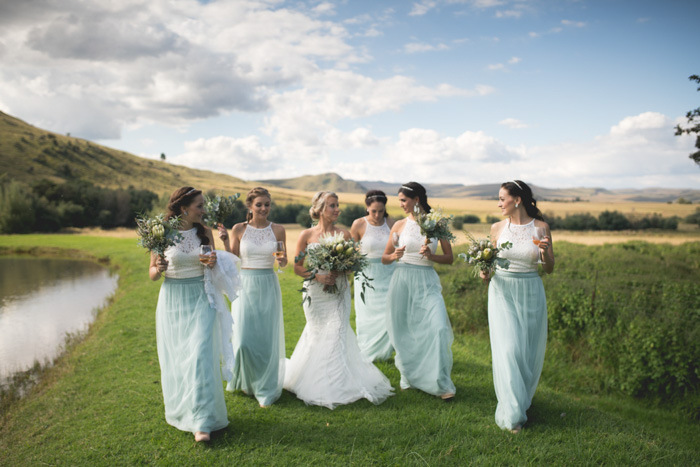 Two Tone Bridesmaid Dresses | Credit: Those Photos
