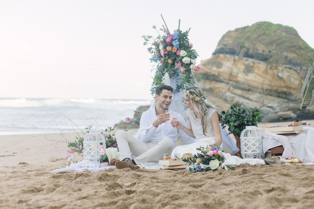 Boho Beach Picnic Engagement