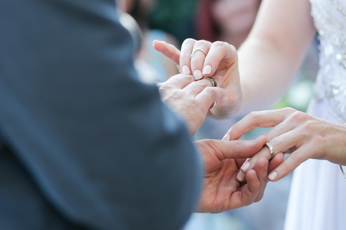 Wedding Ceremony Ring Exchange   Image: Long Exposure