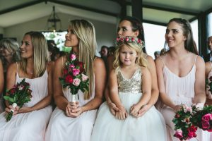 Bridesmaids in Blush | Credit: Knot Just Pics