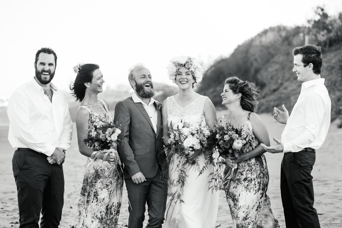 Wedding Party on Beach   Image: Long Exposure