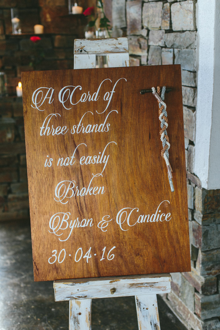 Braid Wedding Ceremony Sign | Credit: Knot Just Pics