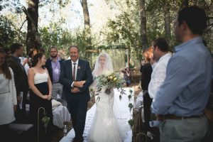 Forest Wedding Ceremony | Credit: Those Photos