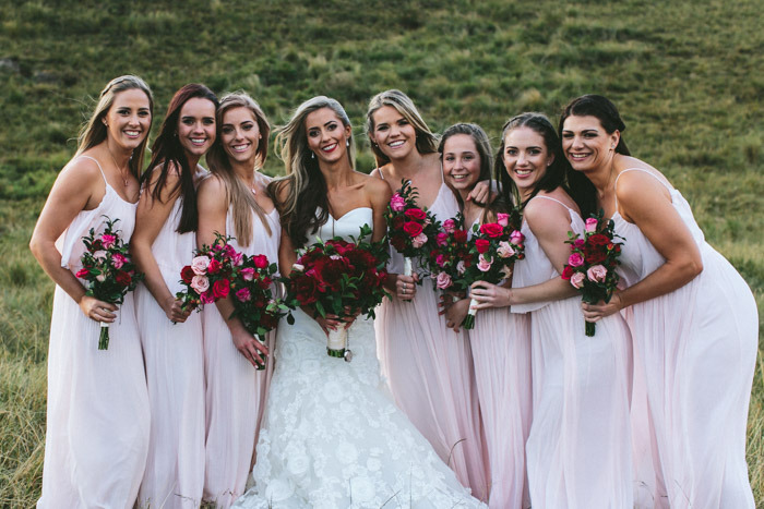 Blush Bridesmaid Dresses | Credit: Knot Just Pics