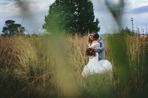 Floral Luxe Wedding Bride & Groom | Credit: Knot Just Pics