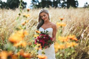 Bride with Peony Bouquet | Credit: Knot Just Pics