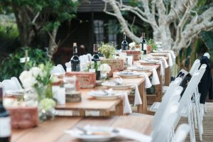 Long Tables with Rustic Decor | Image: Long Exposure