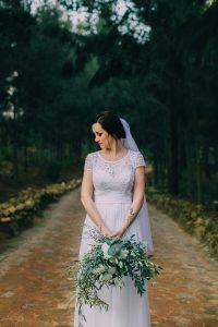 Bride with Organic Bouquet | Credit: Michelle du Toit