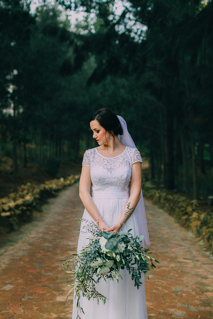 Bride with Organic Bouquet | Credit: Michelle du Toit