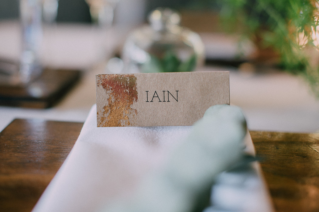 Gold Foil Kraft Place Names | Credit: Michelle du Toit