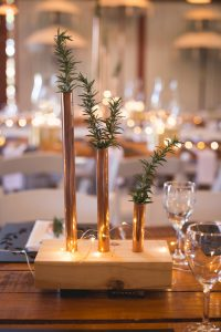 Copper Pipe Vase Centerpiece   Credit: Those Photos