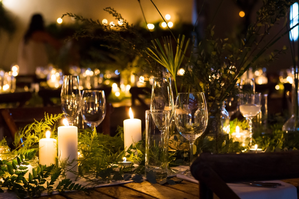 Greenery and Candlelight Decor