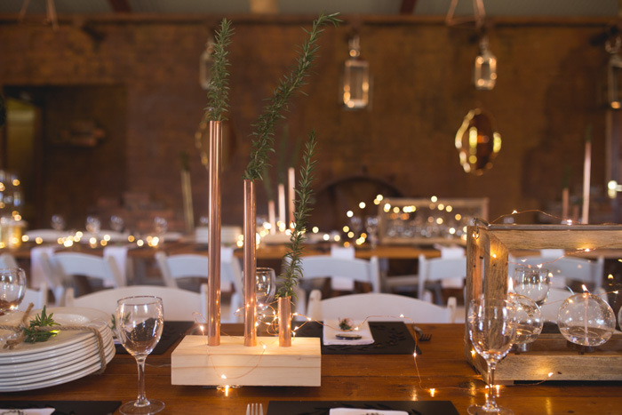 Copper Table Decor | Credit: Those Photos