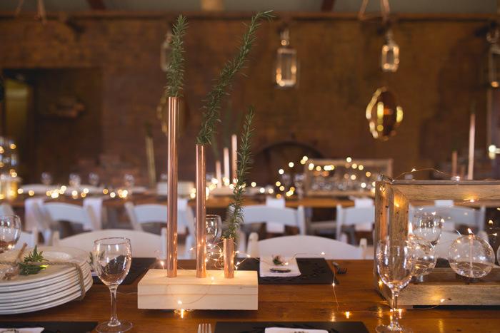 Copper Table Decor | Credit: Those Photos
