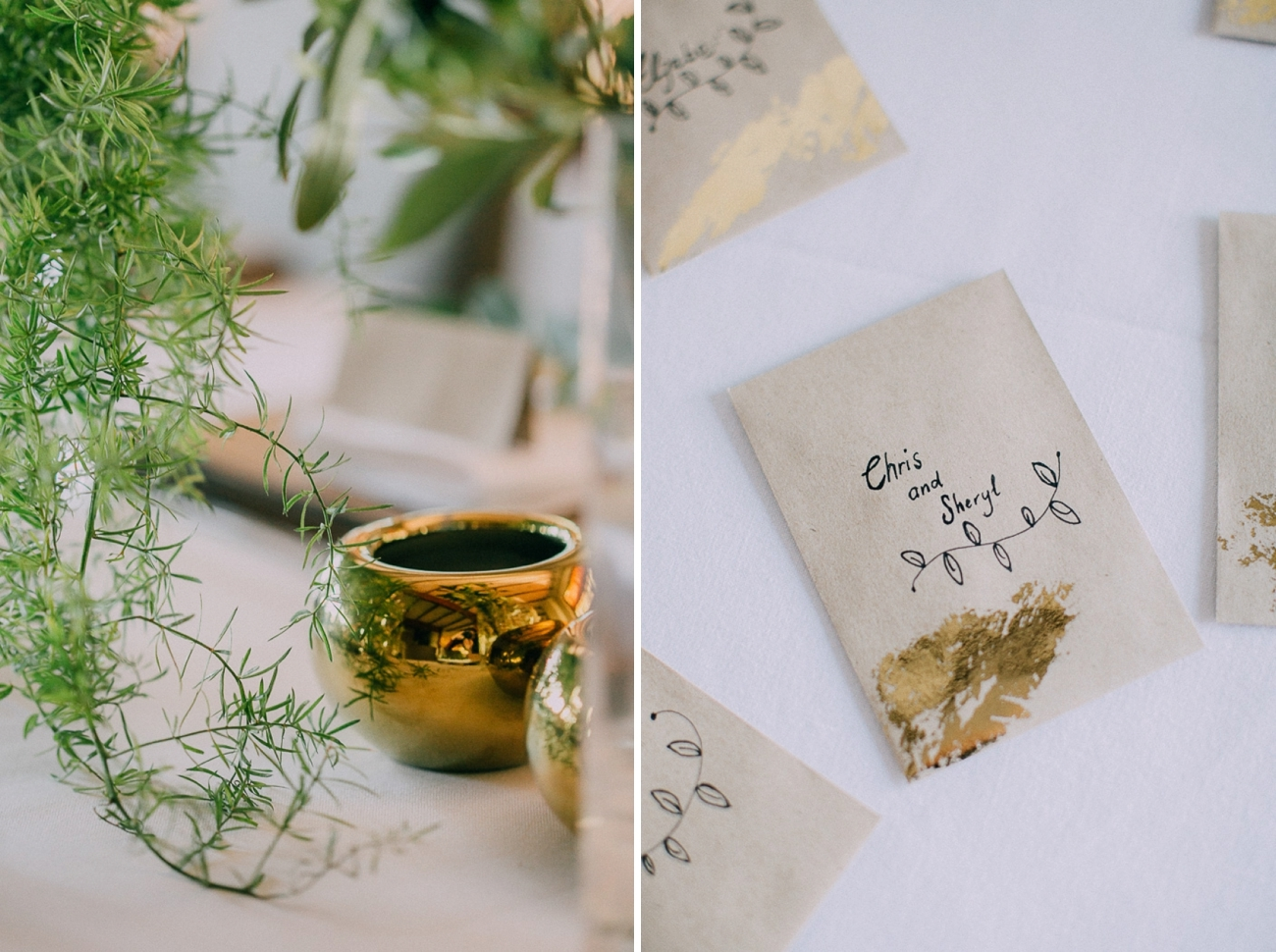 Gold Foil Escort Cards | Credit: Michelle du Toit