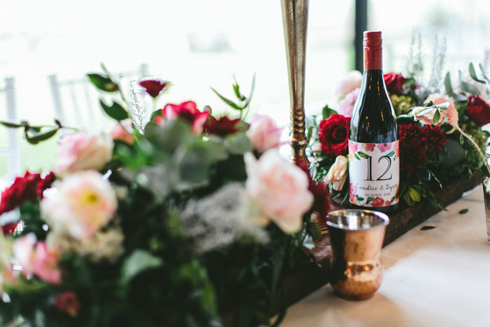 Wine Bottle Table Number | Credit: Knot Just Pics