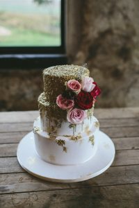 Gold Wedding Cake | Credit: Knot Just Pics