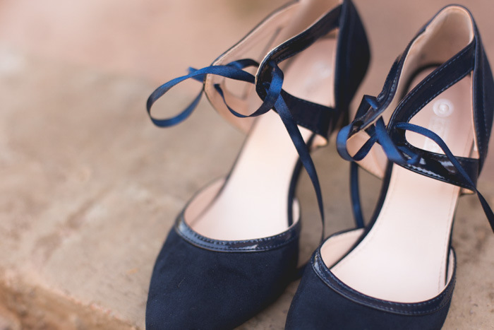 Navy Blue Suede Wedding Shoes | Credit: Those Photos