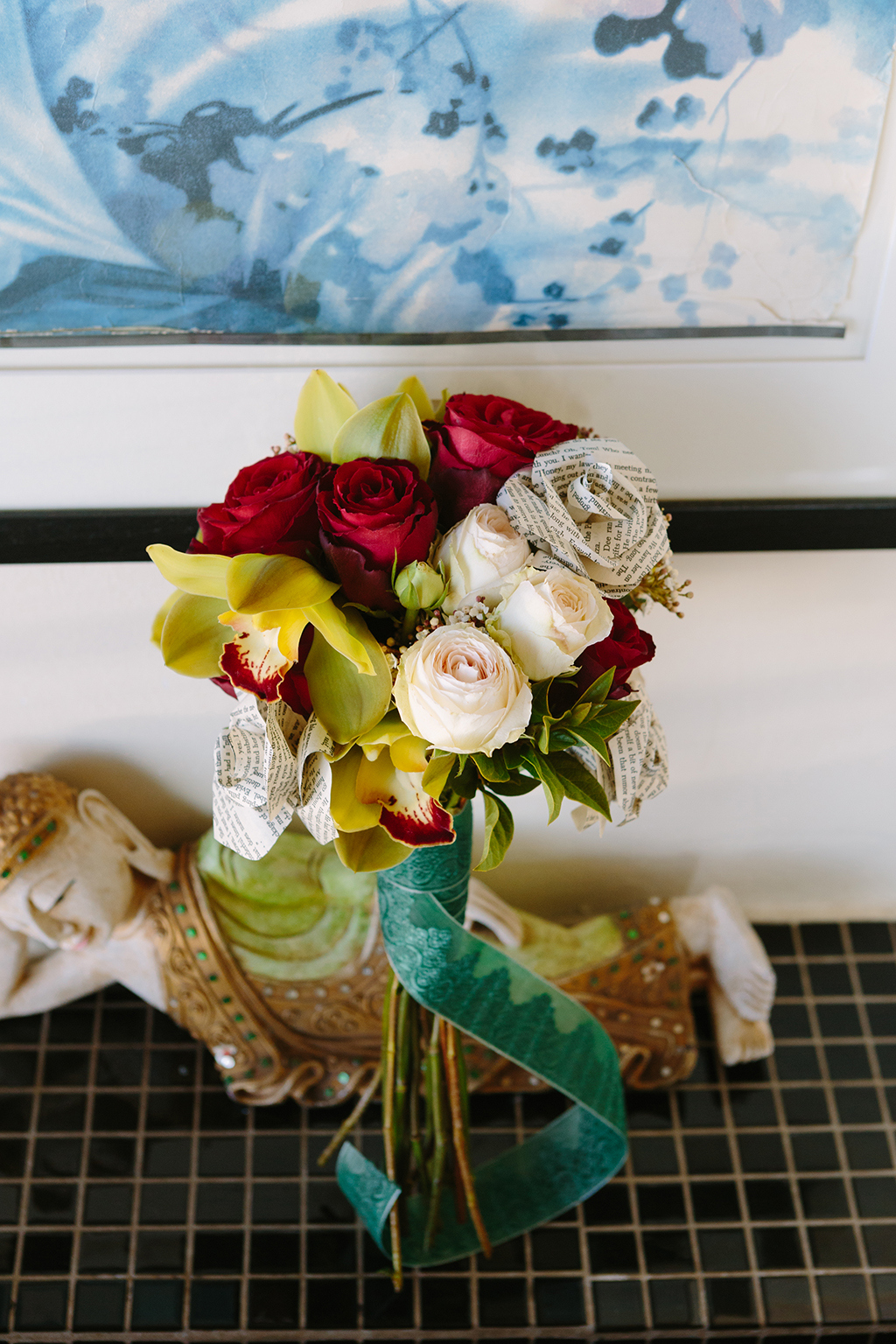 Rose and Paper Flower Bouquet | Credit: Andries Combrink & Runaway Romance