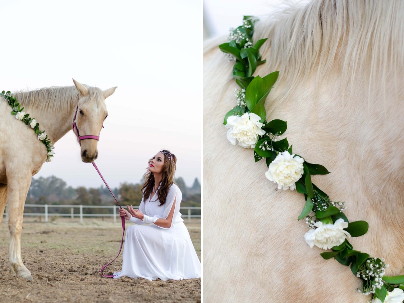 Floral Garland for Horse | Credit: MORE Than Just Photography