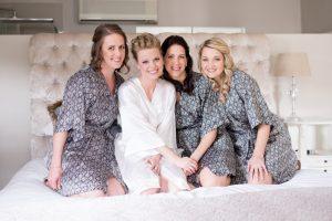 Bridesmaids in Printed Robes | Credit: Cheryl McEwan