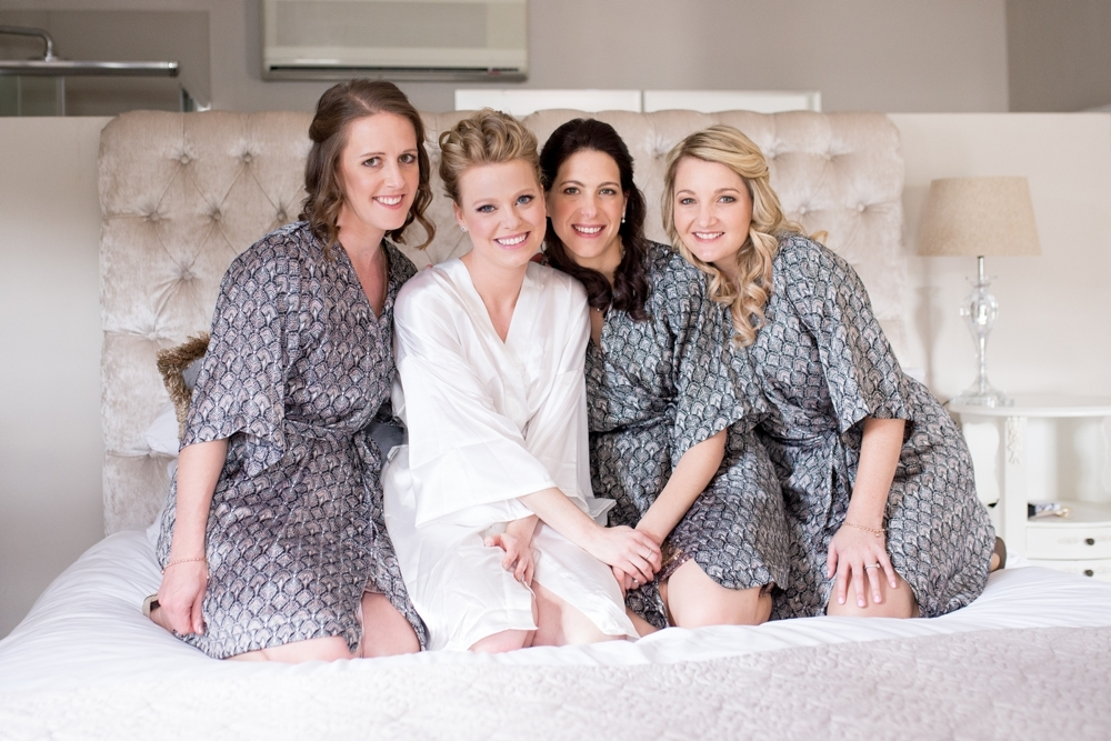Bridesmaids in Printed Robes | Credit: Cheryl McEwan