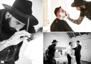 Groom Hot Shave | Credit: Vizion Photography
