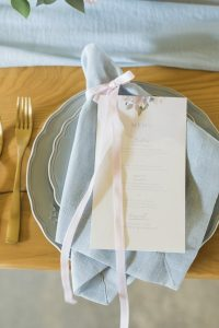 Pantone Serenity & Rose Quartz Place Setting | Credit: Jack & Jane Photography