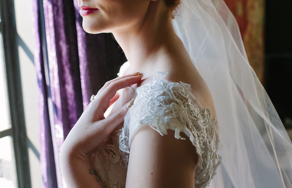 Lace Sleeve Wedding Dress | Credit: Andries Combrink & Runaway Romance
