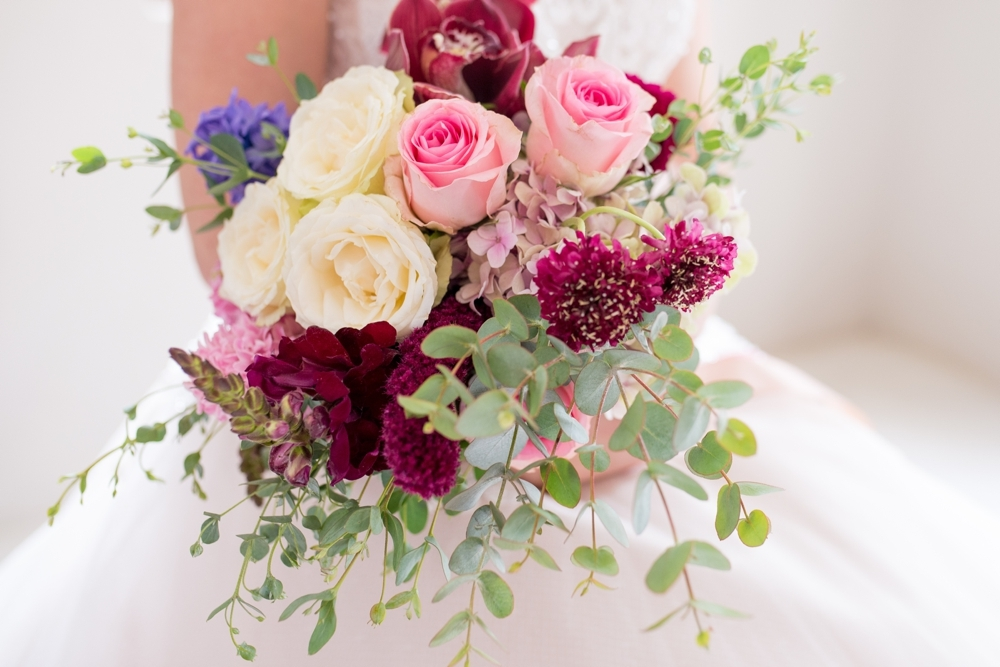 Berry Tone Bridal Wedding Bouquet | Credit: Cheryl McEwan