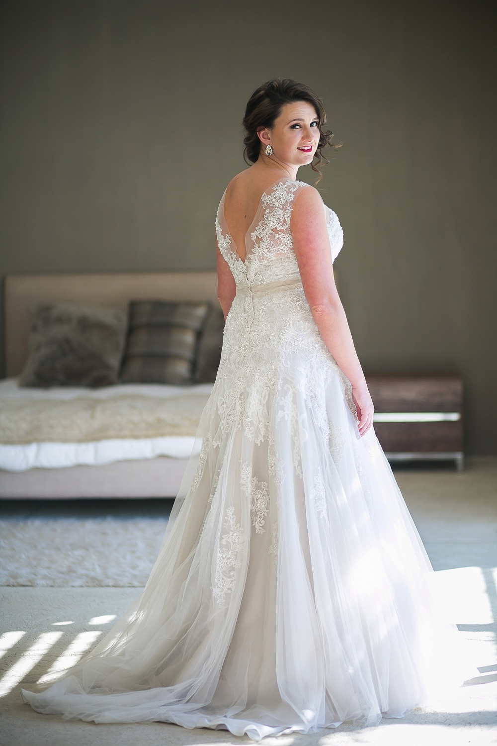 Lace Elizabeth Stockenstrom Wedding Dress | Credit: Karina Conradie